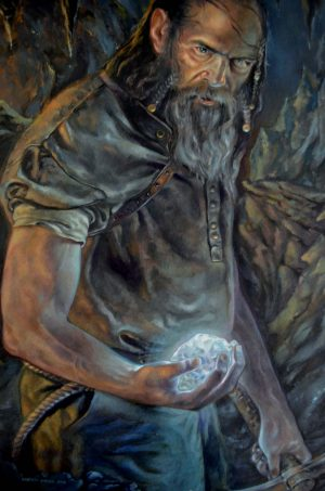 L'ARCHEPIETRA olio su tavola 35 x 50 cm