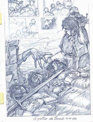 SKETCH – LO SPETTRO DEL TUMULO grafite su carta 21 x 30 cm
