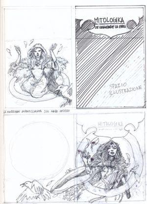 Illustrazione della divinità la Morrigan