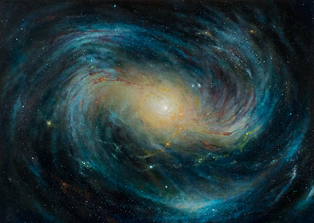 Pianeti e galassie: un viaggio di illustrazioni cosmiche