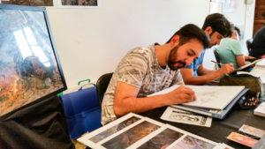 Andra Piparo artista illustratore ospite al comics 2017 Monte san Savino (AR)