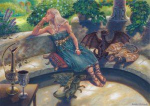 Daenerys-Targarien-1300×924 acrilico su carta