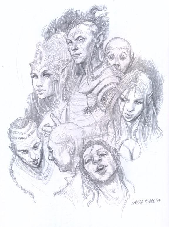 Disegnando gli elfi