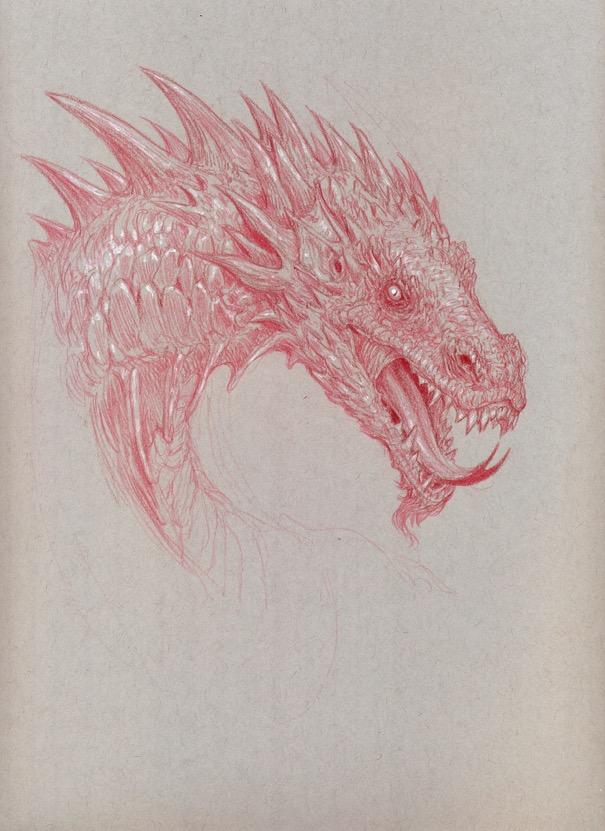 Sketch drago
