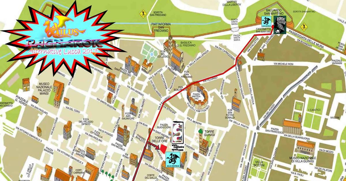 Mappa Lucca comics & Games 2017