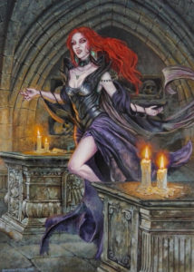 dipinto vampira