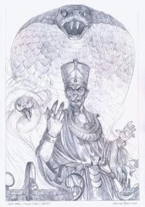 illustrazione thoth amon