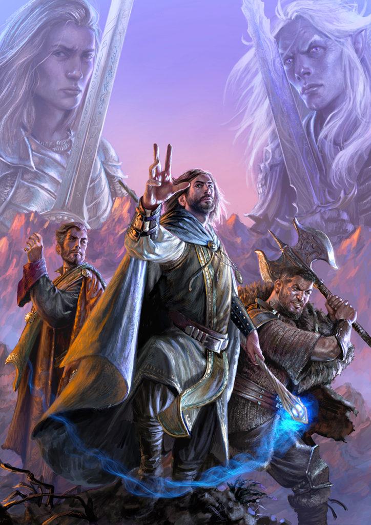 illustrazione selestar saga eroi fantasy