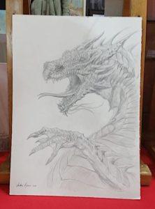 andrea piparo art illustratore drago fantasy