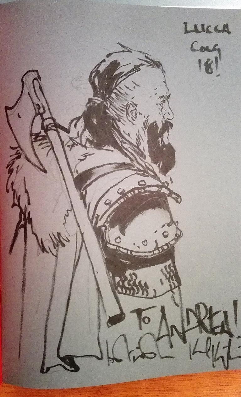 sketch kopinski lucca comics 2018