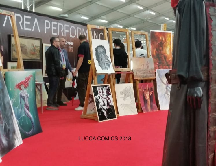 LUCCA COMICS 2018 – PRIMA ESPERIENZA IN AREA PERFORMANCE