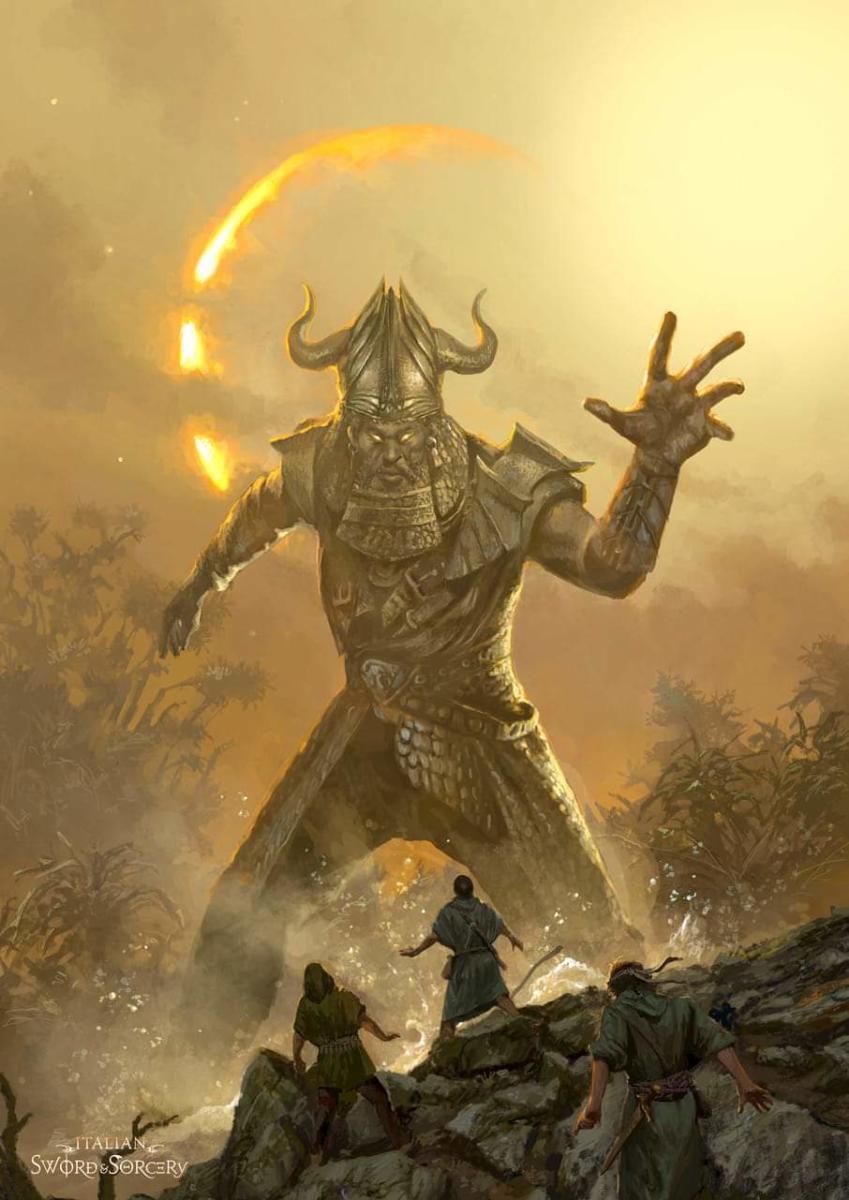 La terra degli Annunaki - cover art per Italian Sword & Sorcery -