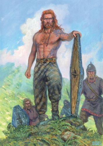 """FIONN E I FIANNA - illustrazione """"Mitologika : Le leggende di Eriu"""" ed. Ailus Editrice"""