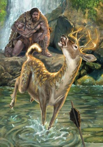 """Eracle-illustrazione """"Mitologika:  Le leggende dell' Olimpo"""" ed. Casa Ailus"""