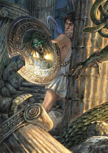 """Perseo-illustrazione """"Mitologika:  Le leggende dell' Olimpo"""" ed. Casa Ailus"""