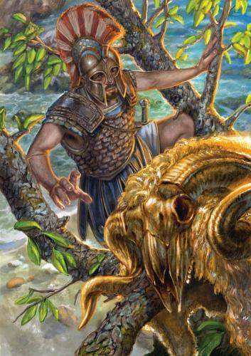 """Giasone-illustrazione """"Mitologika:  Le leggende dell' Olimpo"""" ed. Casa Ailus"""
