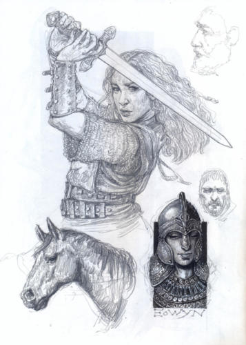 Eowyn - disegno per lo sketchbook: Popoli di Arda - Eterea Edizioni