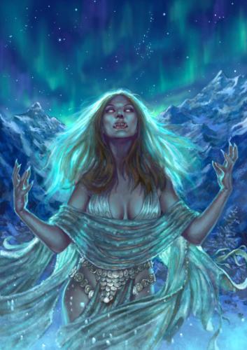 Iperborea Oscuri Canti-Cover art per Italian Sword & Sorcery books