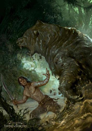 L'artiglio: L'Oro del dio Hunn-Cover per Italian Sword & Sorcery books