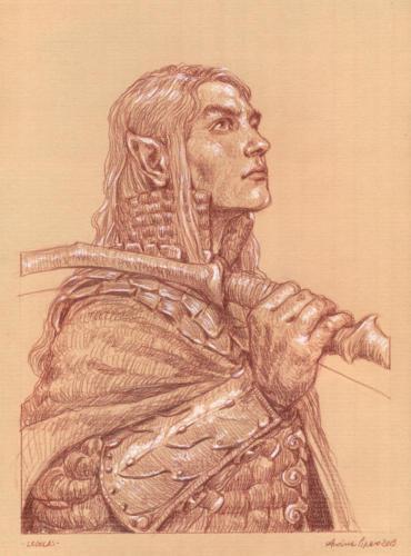 Legolas - disegno per lo sketchbook: Popoli di Arda - Eterea Edizioni
