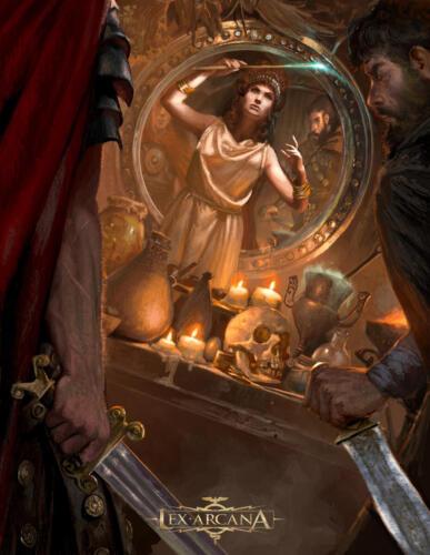 La Maga - Illustrazione realizzata per Lex Arcana rpg - Editore: Quality Games