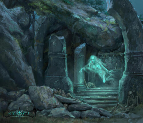 Ghost - illustrazione per Nightfell rpg