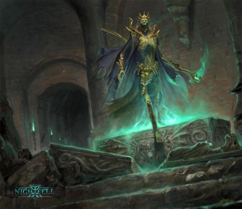 Lich Cultist - illustrazione per Nightfell rpg