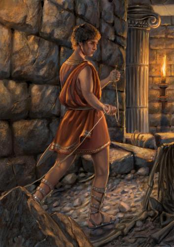 "Teseo- illustrazione ""Mitologika:  Le leggende dell' Olimpo"" ed. Casa Ailus"
