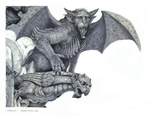 Gargoyle sorvegliante - Scala di grigi
