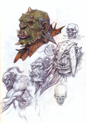 Studio di orchi - disegno per lo sketchbook: Popoli di Arda - Eterea Edizioni
